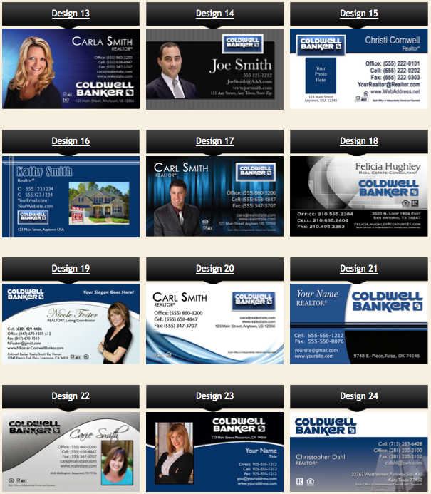 Realtor Business Cards Coldwell Banker
