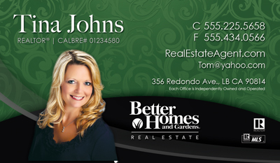 new Better Homes and Gardens business cards