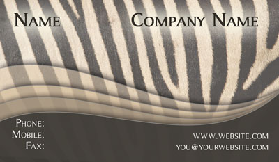 Contact cards networking cards 100s of design tempaltes to zebra print business card reheart Gallery
