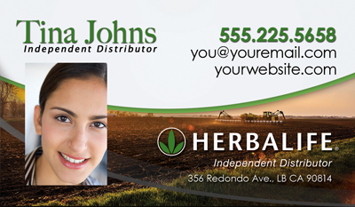 Herbalife business cards for health coach