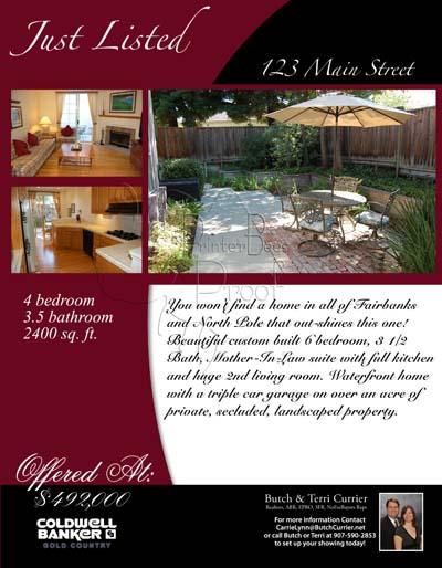 Property listing flyers real estate marketing designed for Find a home online