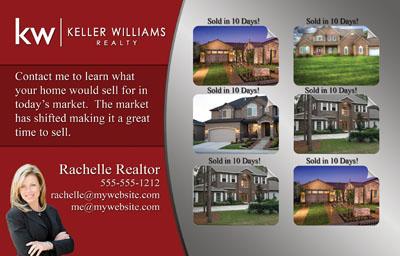 real estate just listed postcards