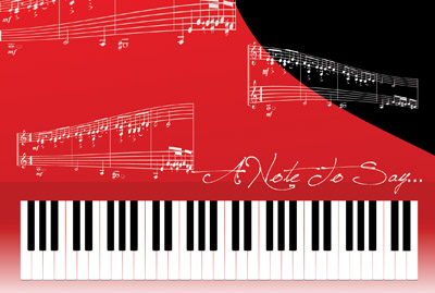 note card printing piano notes
