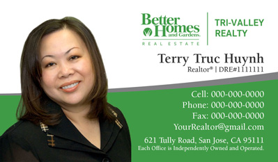 Better Homes and Gardens business cards
