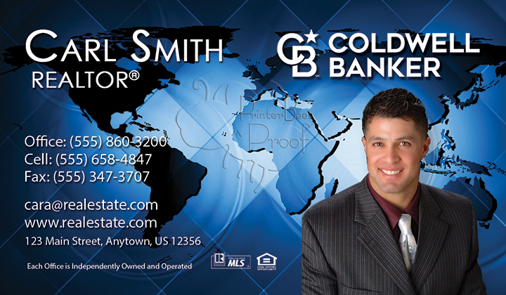 Coldwell Banker Business Card Template 4