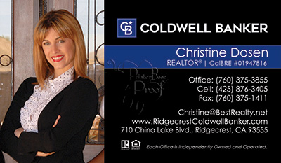 Coldwell Banker Business Card Template 23