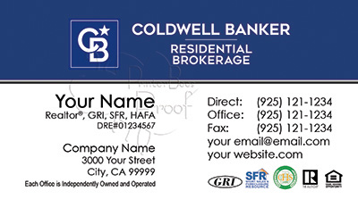 Coldwell Banker Business Card Template 26