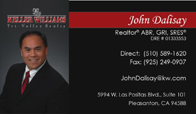 business card with headshots for realtors