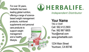 Herbalife Business Cards 1000 Herbalife Business Card 59 99