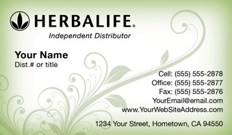 Order Herbalife Business Cards - Free Shipping and Design   No ...