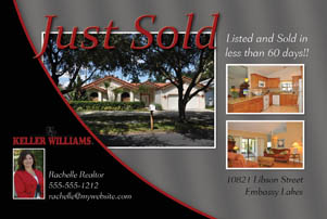 Just Sold Postcards - Real Estate Marketing - Foreclosure ...
